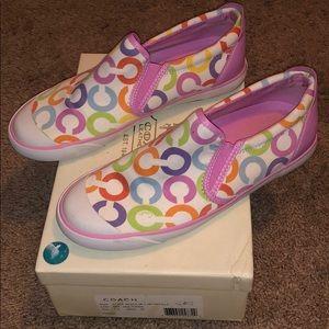 7.5 Multi Color Coach Shoes